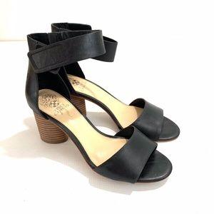 Vince Camuto Jacon Black Heel Sandals Ankle Strap